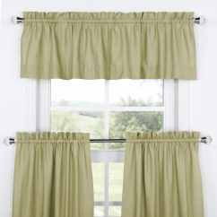 Kitchen Tier Curtains Design Ideas For Small Galley Kitchens Mountain Moss Solid Cotton Curtain And Valance Set