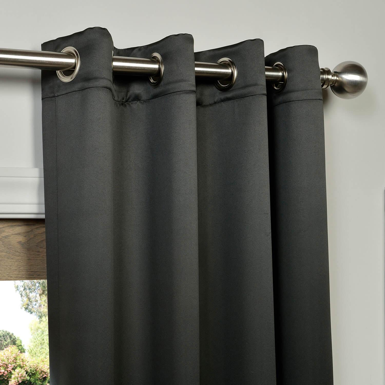 Grommet Jet Black Blackout Curtains Amp D S