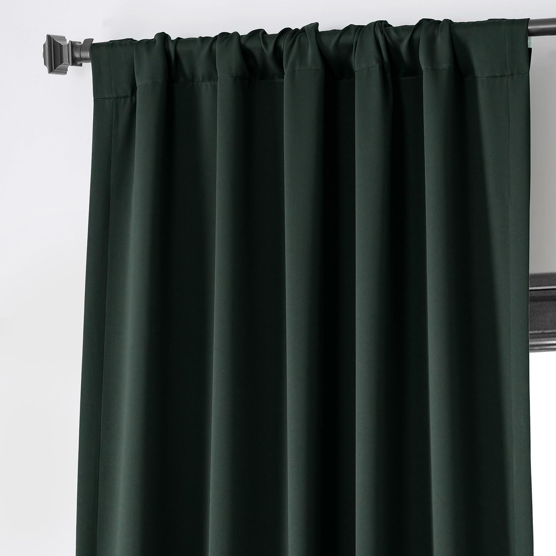 Get Dark Mallard Green Blackout Curtain and Drapes