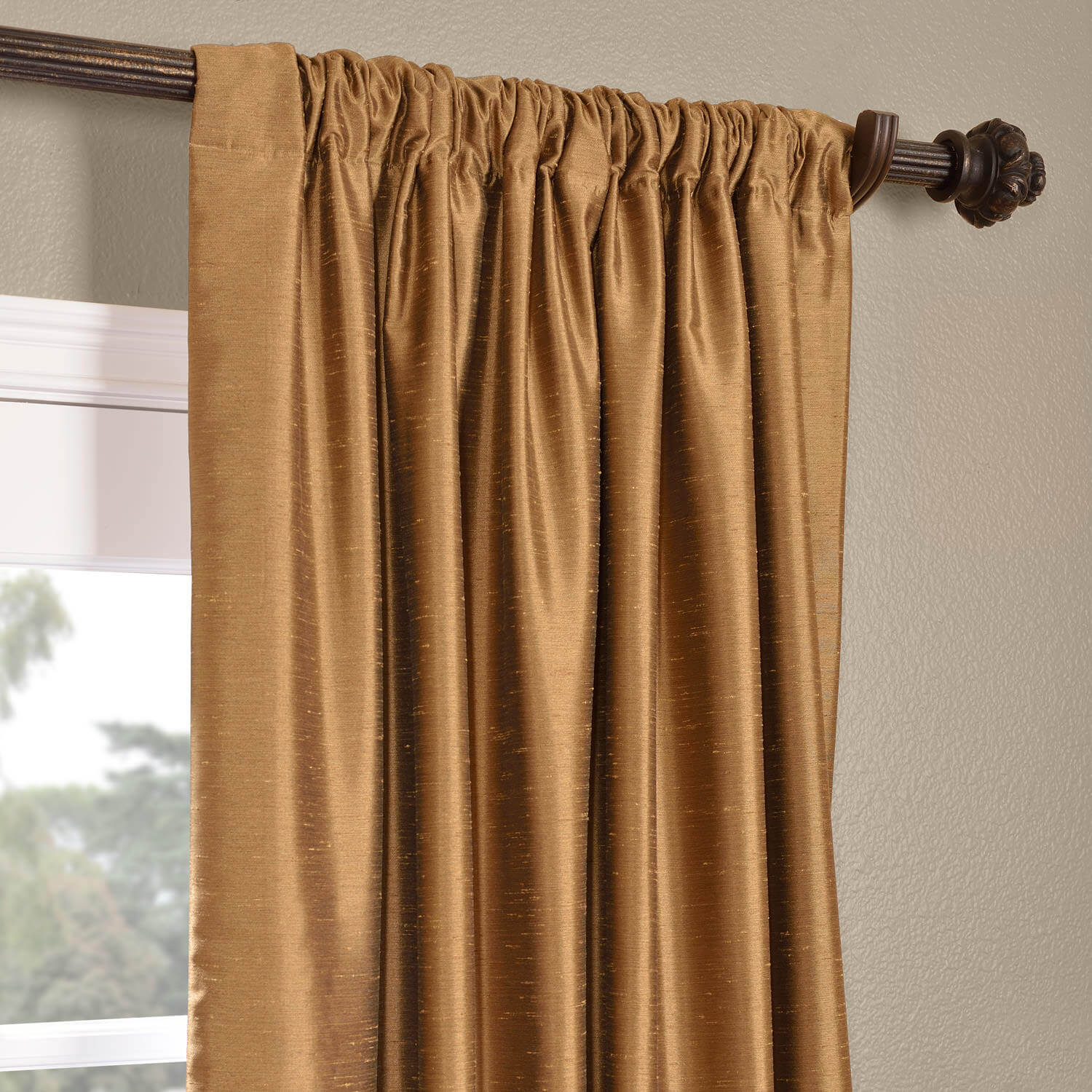 dining chair covers velvet high chairs on sale buy empire gold yarn dyed faux dupioni silk curtains