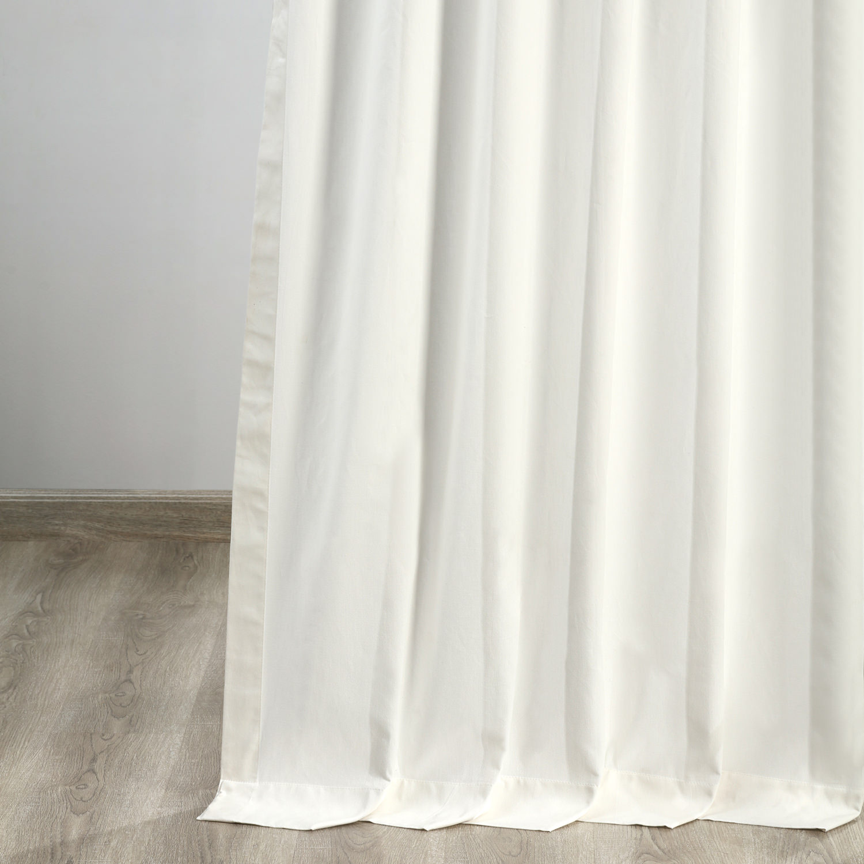 Fresh Popcorn Solid Cotton TieTop Curtain