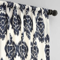 Dining Chair Covers Velvet For Outdoor Setting Get Ikat Blue Printed Cotton Curtain & Drapes