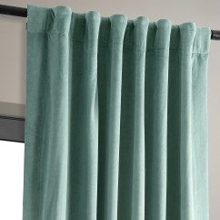 Dining Chair Covers For Home Big Lots Chairs Signature Aqua Mist Blackout Velvet Curtains, Drapes