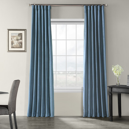 Solid Faux Silk Curtians Half Price Drapes