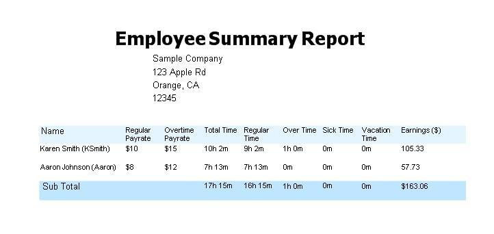 Image Result For Employee Timesheet Software