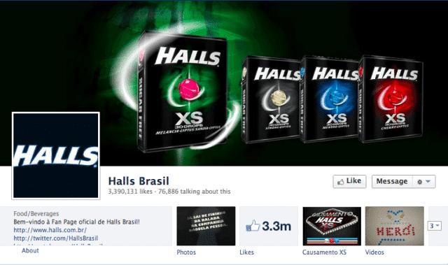 HALLS Brasil Facebook Page