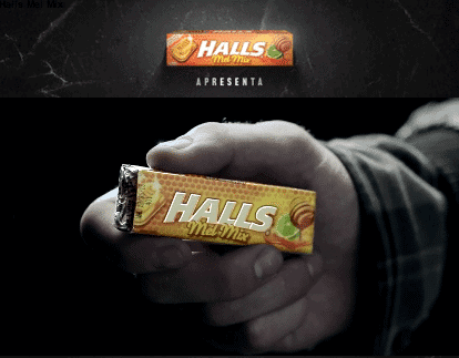 """Check it out, I've got some HALLS."""