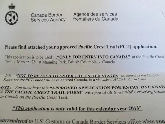 Canada Border Permit