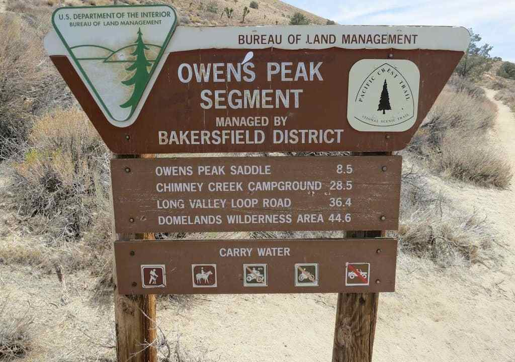 PCT Desert Mileage Sign