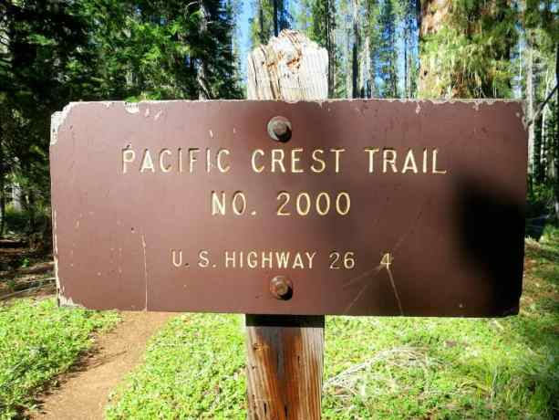 Pacific Crest Trail No 2000 Sign 1