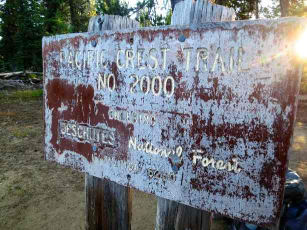 Pacific Crest Trail No 2000 Sign 3