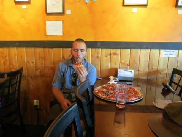 Eating Pizza Idyllwild