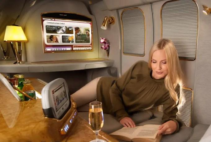 First Class Emirates Flight