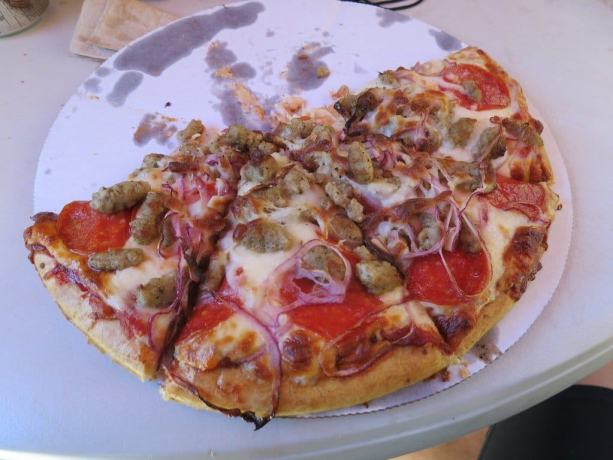 Half a Pizza in Sierra City