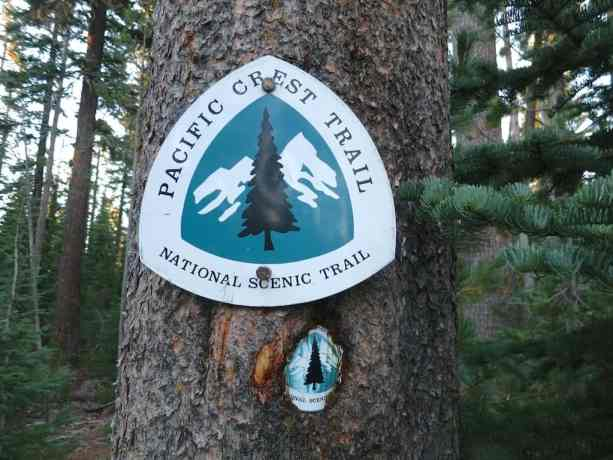 Old and new PCT trail markers