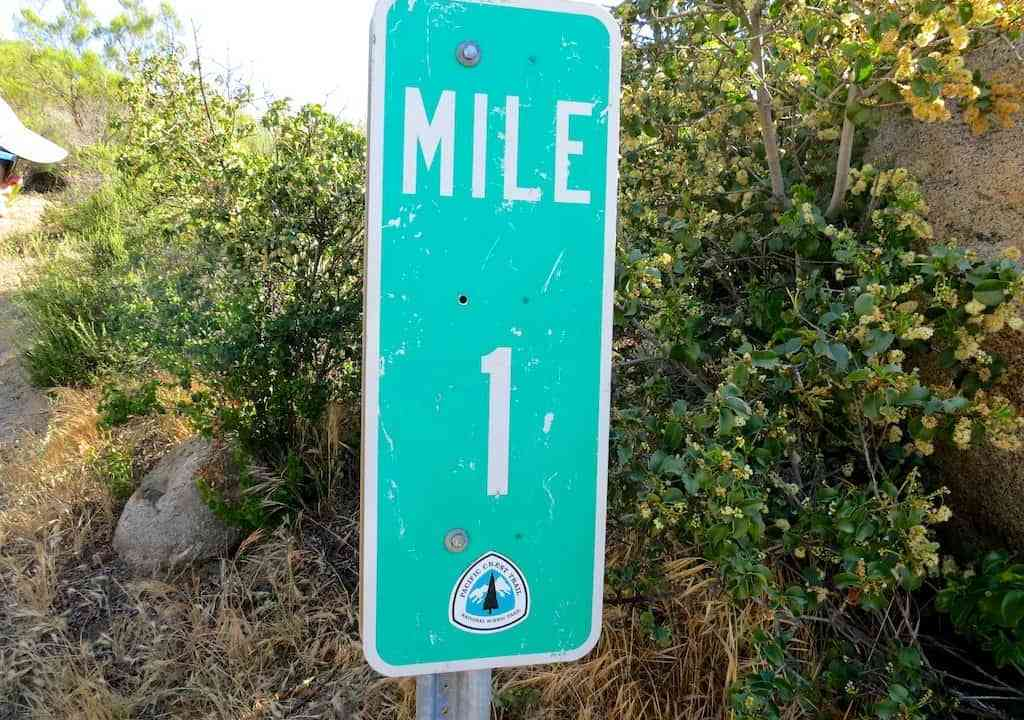 PCT Mile One Sign