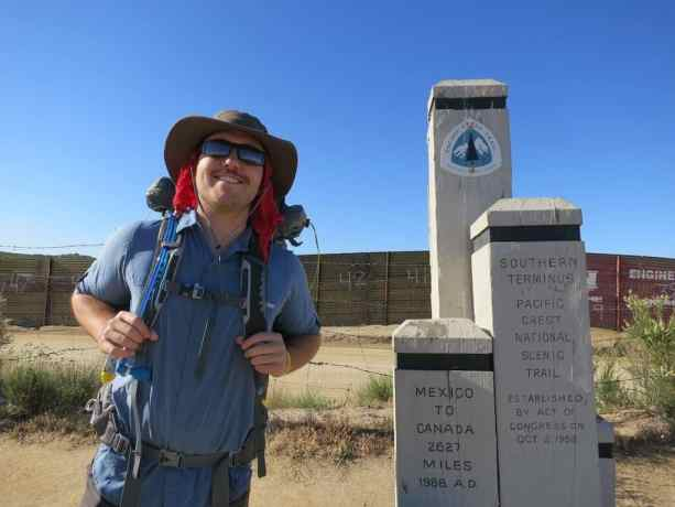 Southern Terminus PCT Monument Self