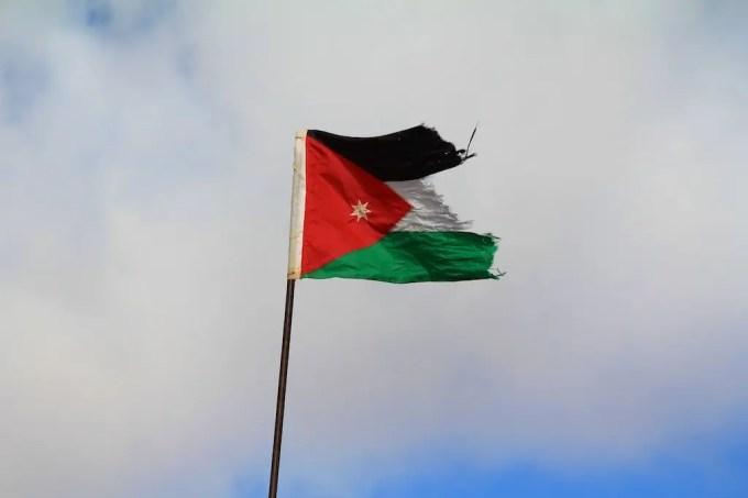 Jordanian Flag Petra