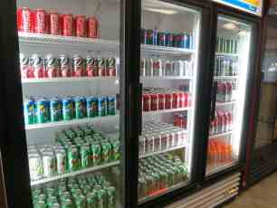 Soda Fridge at KOA Acton