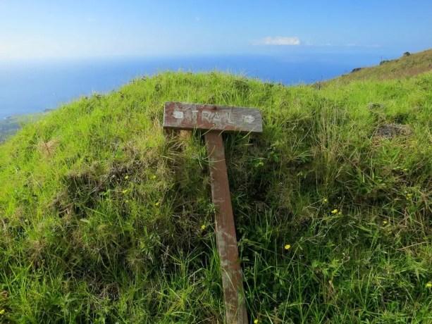 Kaupo Gap Trail Sign Broken