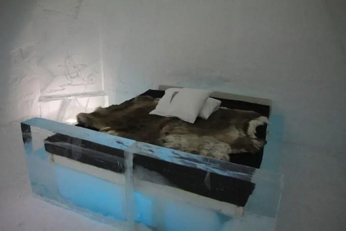 Kiruna Ice Hotel Bed