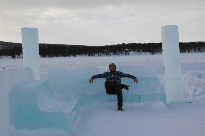 Kiruna Ice Hotel Bench Self
