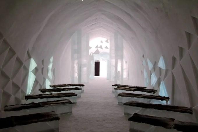 Kiruna Ice Hotel Chapel Benches