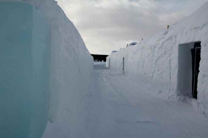Kiruna Ice Hotel Outside Path