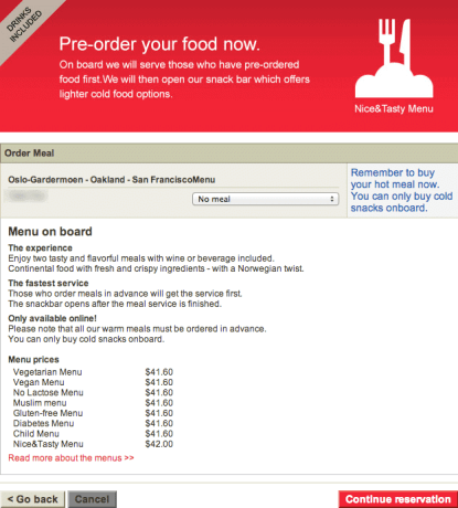 Norwegian Air Online Checkout 2