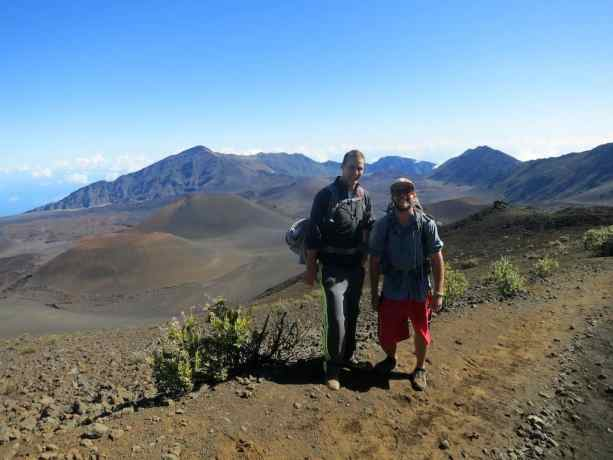 Self And Swiss Hiker Haleakala