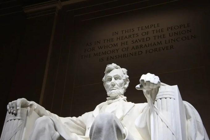 Washington DC Lincoln Memorial Night Writing 1