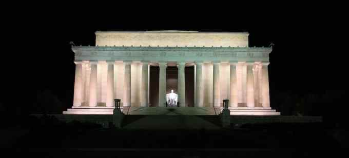 Washington DC Lincoln Memorial Night