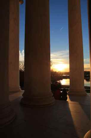 Washington DC Pillars Sunset