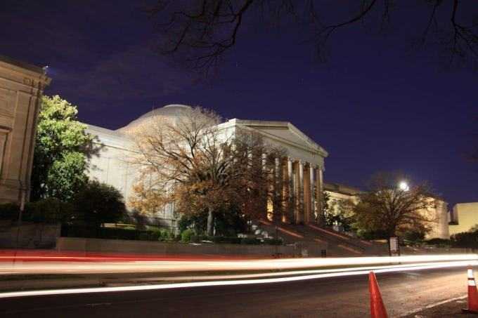 Washington DC Smithsonian Driveby Night