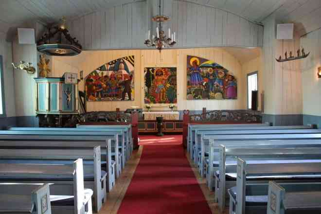 Inside Sami Church Kiruna