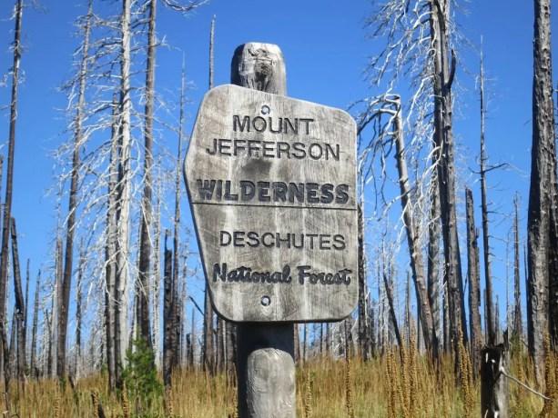 PCT Jefferson Wilderness Sign