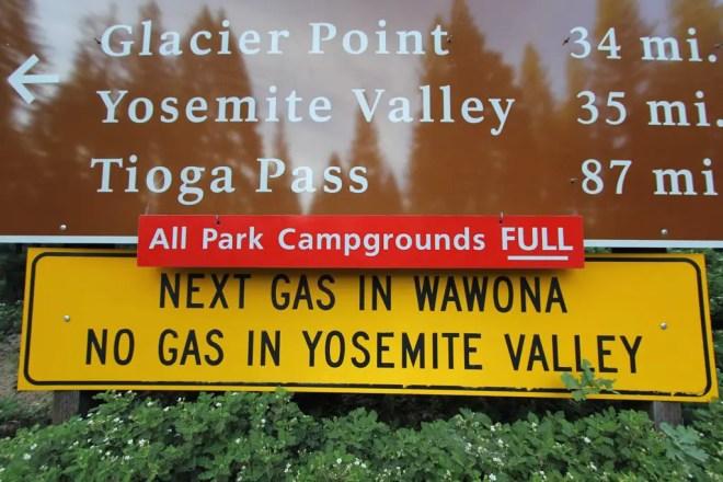 Yosemite Campground Sign