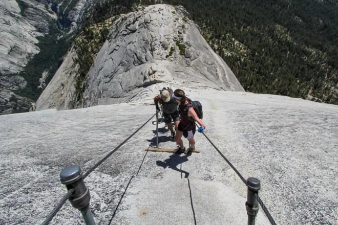 Half Dome Climbers Downhill