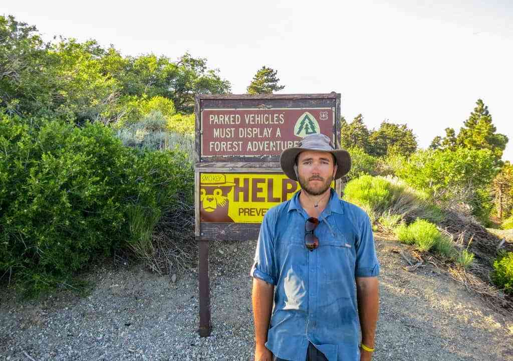 PCT Self Wrightwood Sign Help
