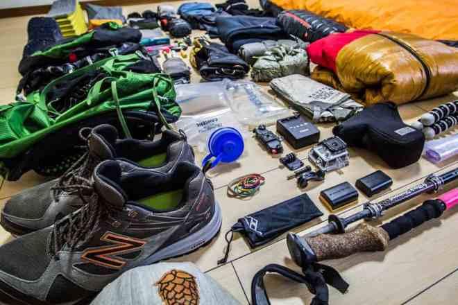 Everest Base Camp Gear Angle