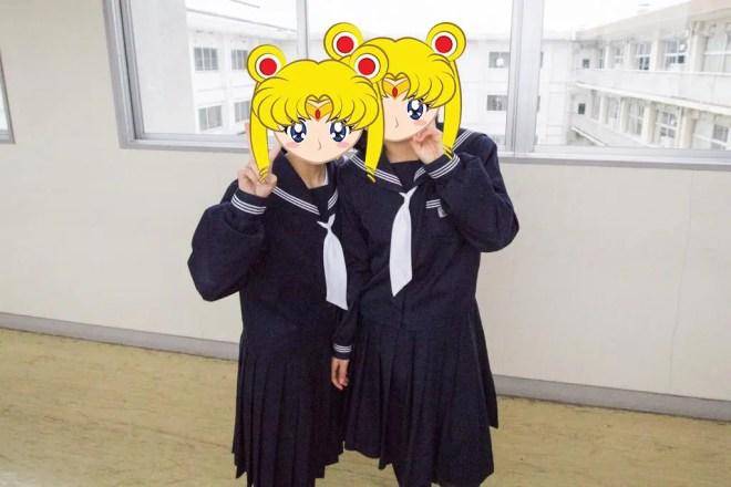 Japanese Sailor Moon Students