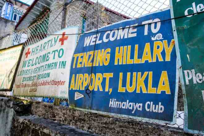 Welcome To Lukla Sign