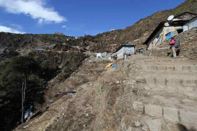 Beginning Of Namche Bazaar