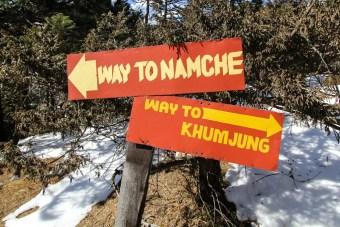Namche Khumjung Sign