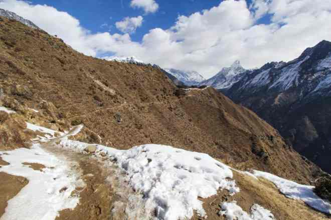 Namche North Trail View