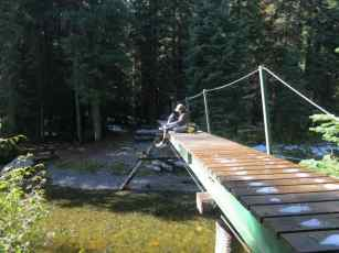 Appa On Bridge Pacific Crest Trail