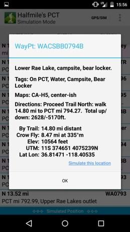 Halfmile PCT App Screenshot 6