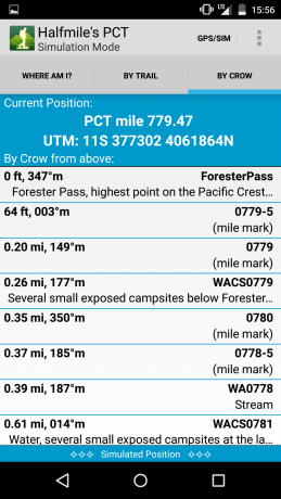 Halfmile PCT App Screenshot 7