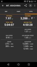 Mt Arashima Stats Screenshot