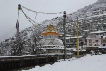 Snow Namche Bazaar Everest Base Camp